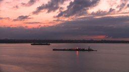 HD2008-8-17-18 dawn NYC harbor Footage