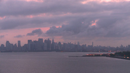 HD2008-8-17-24 dawn NYC harbor Stock Video Footage