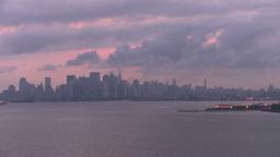 HD2008-8-17-24 dawn NYC harbor Stock Video Footage