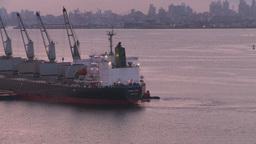 HD2008-8-17-28 dawn NYC harbor Stock Video Footage