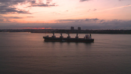 HD2008-8-17-30 dawn NYC harbor Stock Video Footage