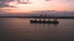 HD2008-8-17-30 dawn NYC harbor Stock Video Footage