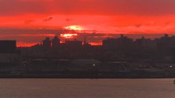 HD2008-8-17-32 sunrise NYC harbor Footage