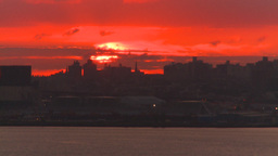 HD2008-8-17-32 sunrise NYC harbor Stock Video Footage