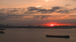 HD2008-8-17-34 sunrise NYC harbor Stock Video Footage