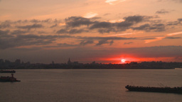HD2008-8-17-34 sunrise NYC harbor Footage