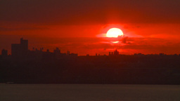 HD2008-8-17-36 sunrise NYC harbor Footage