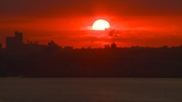 HD2008-8-17-36 sunrise NYC harbor Stock Video Footage