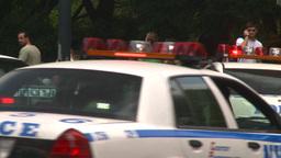 HD2008-8-17-40b NYC many police cars Stock Video Footage