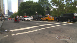 HD2008-8-17-42b NYC many police cars Stock Video Footage