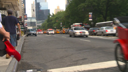 HD2008-8-17-42b NYC many police cars Stock Video Footage