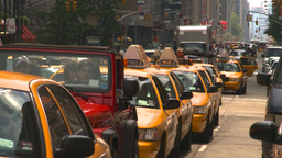 HD2008-8-17-44 NYC txi cabs Stock Video Footage