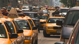 HD2008-8-17-46 NYC txi cabs Stock Video Footage