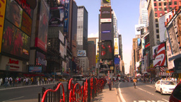 HD2008-8-17-54 NYC traffic times square Stock Video Footage