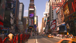 HD2008-8-17-55 TL NYC traffic times square Stock Video Footage