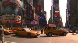 HD2008-8-17-58 NYC traffic times square Stock Video Footage