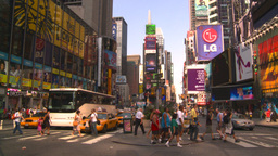 HD2008-8-18-2 NYC times square Stock Video Footage