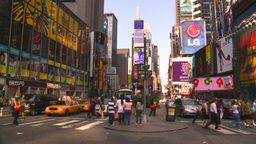 HD2008-8-18-6 TL NYC times square Stock Video Footage