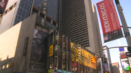 HD2008-8-18-8 NYC times square spin tickertape ads Stock Video Footage