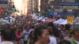 HD2008-8-18-21 TL NYC lots of people Stock Video Footage