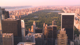 HD2008-8-18-31 NYC Central park from 30 rock Stock Video Footage