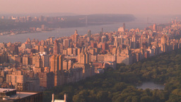 HD2008-8-18-33 NYC Central park from 30 rock Stock Video Footage