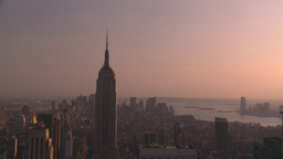 HD2008-8-18-35 NYC Empire state from 30 rock Stock Video Footage