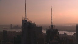 HD2008-8-18-37 NYC from 30 rock skyscrapers Stock Video Footage