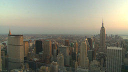 HD2008-8-18-43 NYC Empire state from 30 rock Stock Video Footage