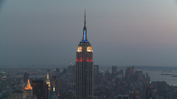 HD2008-8-18-45 NYC Empire state from 30 rock after dark Footage