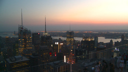 HD2008-8-18-47 NYC from 30 rock after dark Stock Video Footage