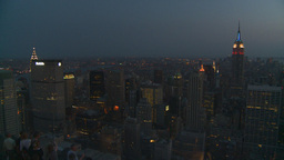 HD2008-8-18-49 NYC Empire state from 30 rock after dark Footage
