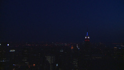 HD2008-8-18-53 NYC from 30 rock after dark Stock Video Footage