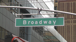 HD2008-8-19-16 Times square broadway street sign Stock Video Footage