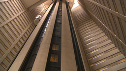 HD2008-8-19-26 TL indoor glass elevators Stock Video Footage