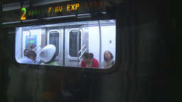 HD2008-8-19-30 NYC subway Stock Video Footage