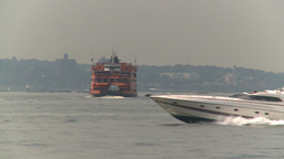 HD2008-8-19-38 Staten island ferry superboat Footage