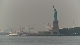 HD2008-8-19-40 statue liberty industrial Footage