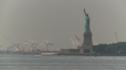 HD2008-8-19-40 statue liberty industrial Stock Video Footage