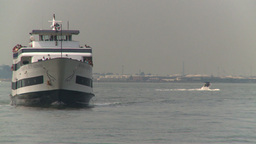 HD2008-8-19-42 ferry boat Stock Video Footage