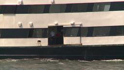 HD2008-8-19-44 ferry boat thru frame Stock Video Footage