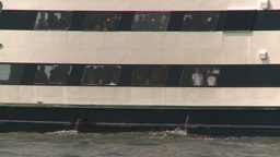 HD2008-8-19-44 ferry boat thru frame Stock Video Footage