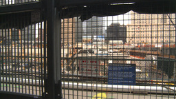 HD2008-8-19-46 WTC fence construction site Footage