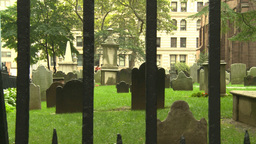 NYC trinity church cemetery Stock Video Footage