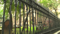 NYC trinity church cemetery Footage