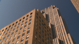 HD2008-8-18-15 NYC 30 rock snap pan Stock Video Footage