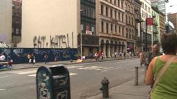 walking thru Greenwich Stock Video Footage