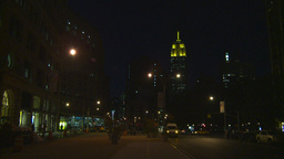 night building and traffic Stock Video Footage