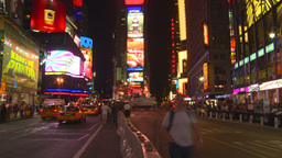HD2008 8 21 8 TL blur NYC times square Stock Video Footage