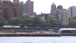 NYC waterfront traffic Stock Video Footage